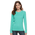 Turquoise Essential Cable-Knit Sweater