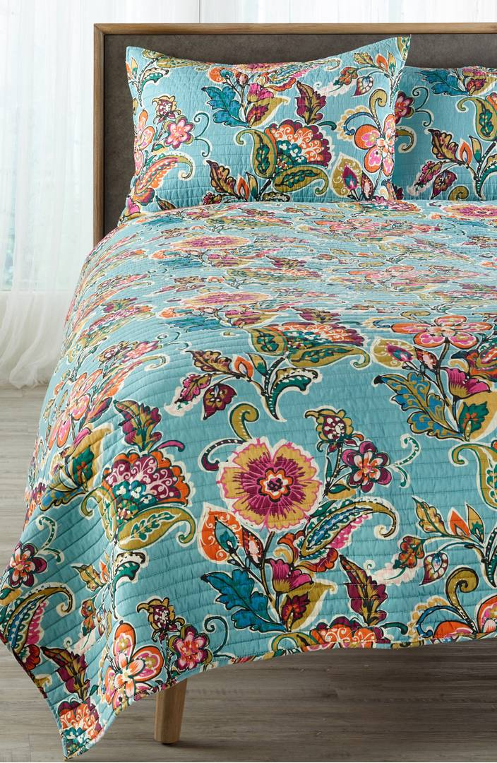 ordinary Levtex Home Quilt Set Part - 10: Everything Turquoise