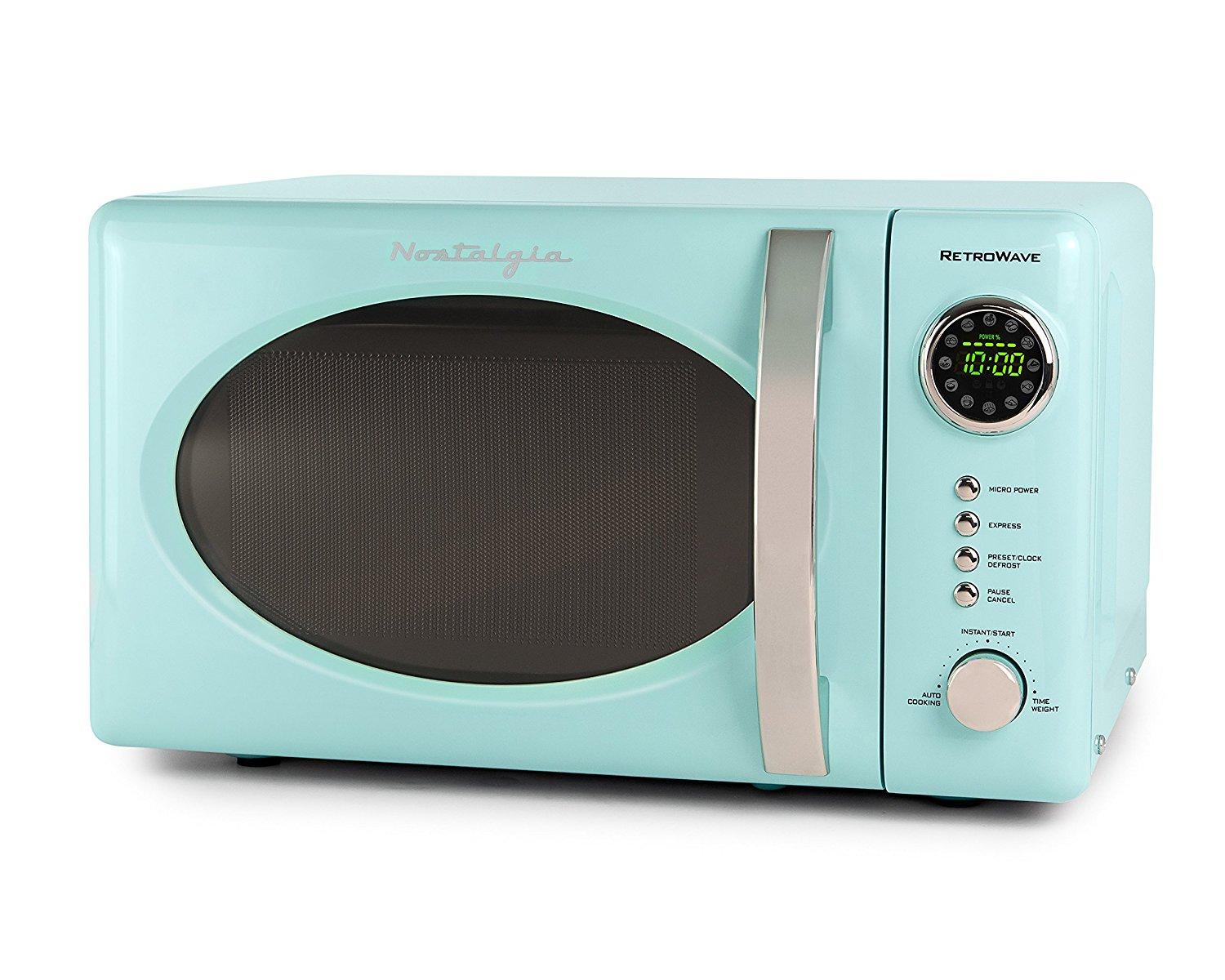 Nostalgia Aqua Blue Retro Microwave Oven | Everything Turquoise