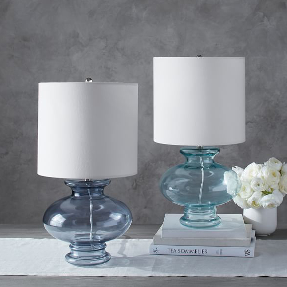 Exceptional If Your Decor Style Is Eclectic Or Romantic, This Turquoise Aubrey Accent  Lamp Will Light Up Your World. The Curved Design Of The Blown Glass Is  Perfectly ...