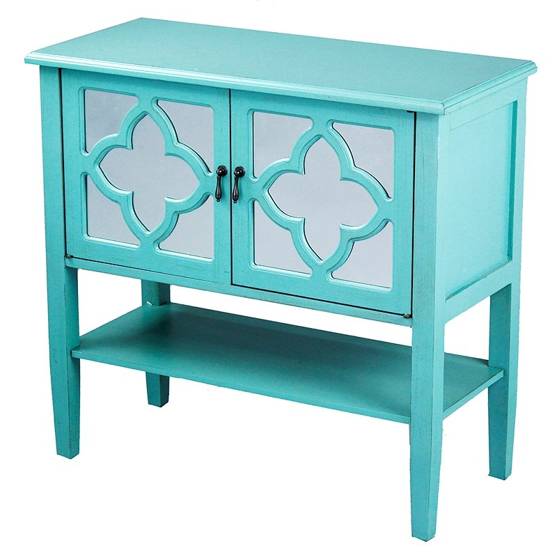 Turquoise Console Acccent Cabinet