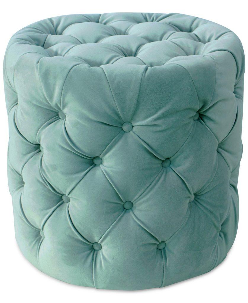 Turquoise Kelly Ottoman
