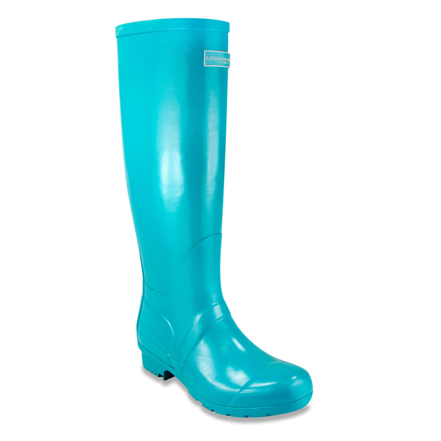 Turquoise London Fog Thames Waterproof Rain Boots