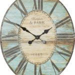 Turquoise Oversized Oval Wall Clock