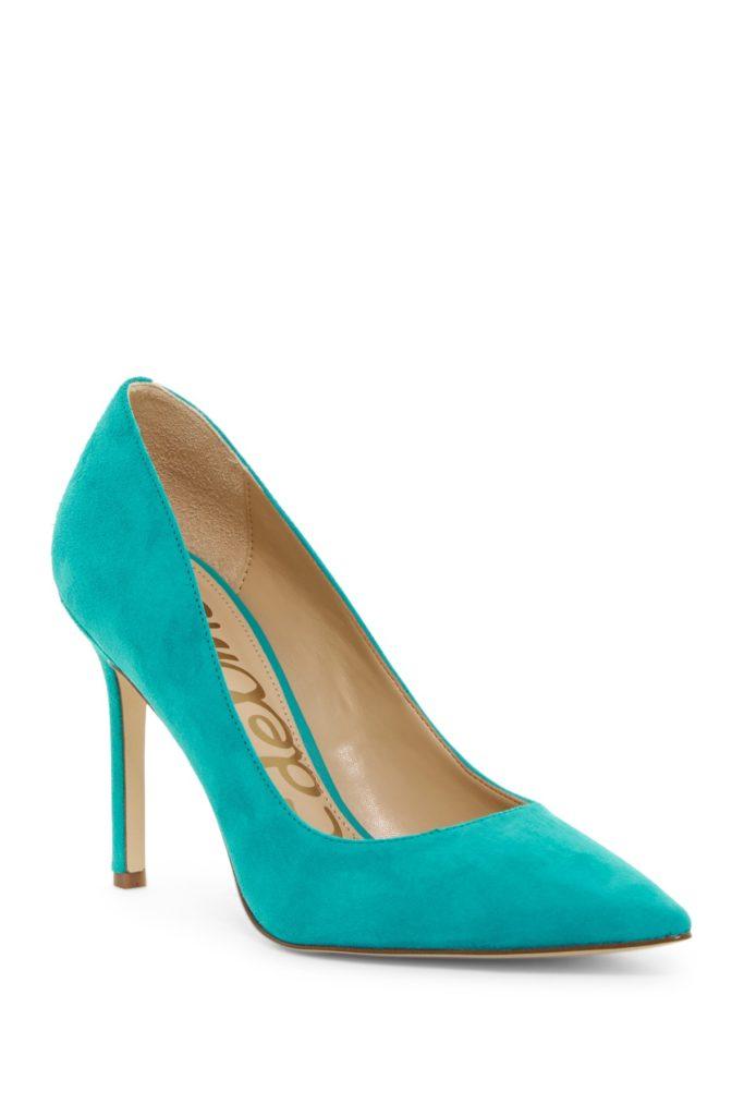 Turquoise Sam Edelman Hazel Pointy Toe Pump