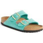 Turquoise Birkenstock Arizona Soft Footbed Sandal