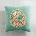 Beaded Easter Basket Pillow