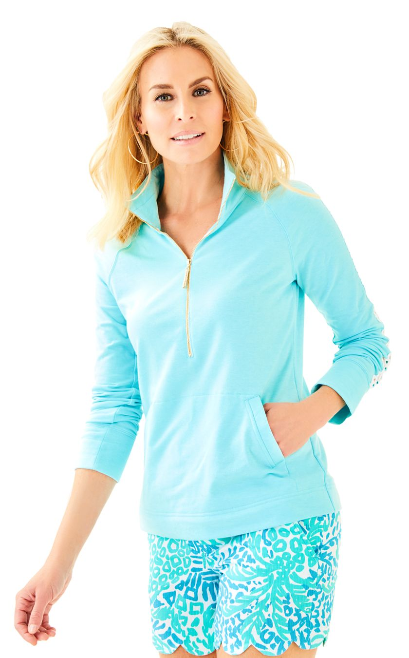 Lilly Pulitzer Skipper Solid Popover Everything Turquoise