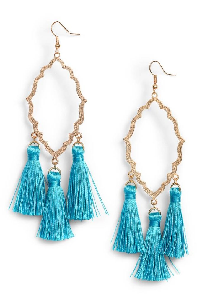 Medallion Tassel Earrings