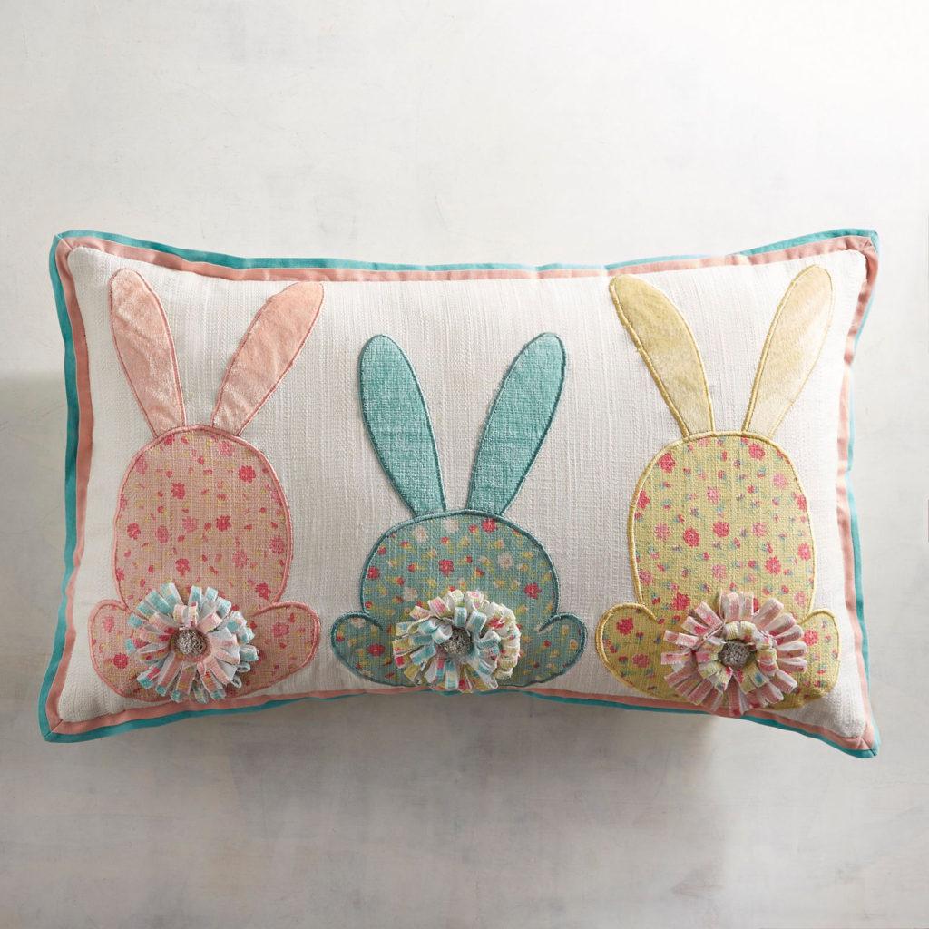 3 Bunny Tails Lumbar Pillow
