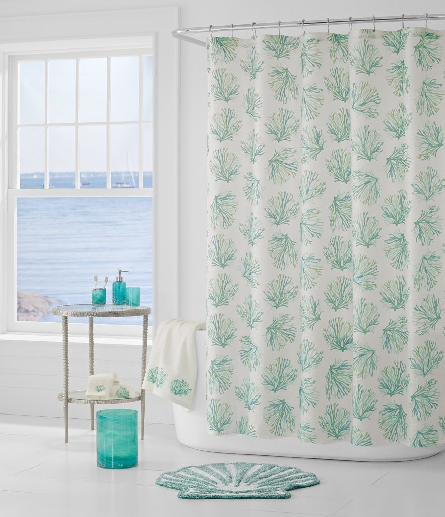 Aqua Coral Reef Shower Curtain
