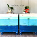 Nautical Painted Coastal Blue Nightstands