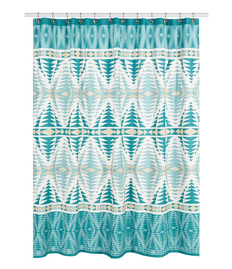 Pendleton Pecos Geometric Cotton Twill Shower Curtain