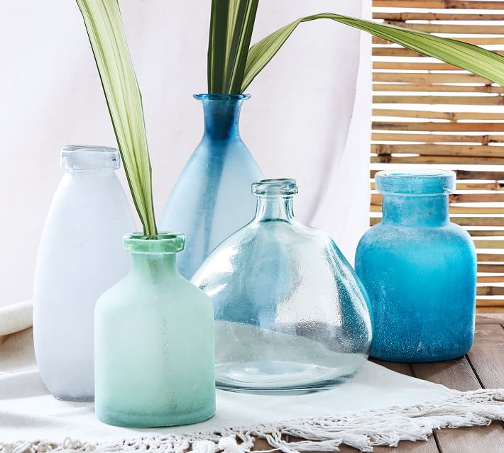 Sea Glass Vases