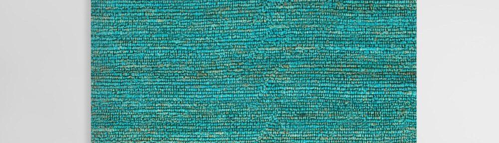 Aqua Deca Flat-Woven Jute Rug