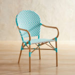 Turquoise Woven Bistro Chair