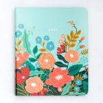 2018-2019 Mint Floral Planner