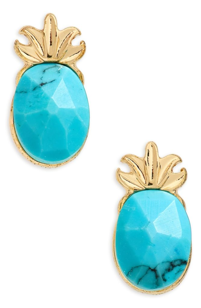 Loren Olivia Pineapple Earrings