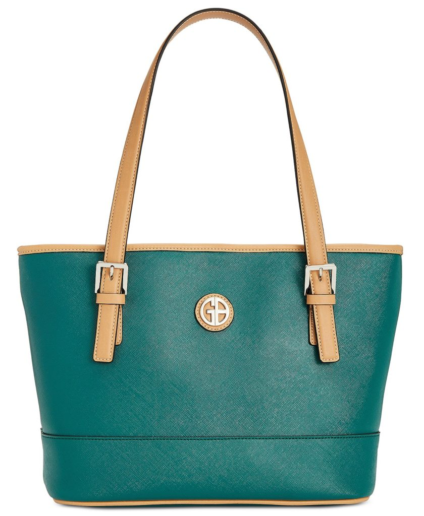 Giani Bernini Saffiano Tote in Dark Teal
