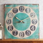 Rustic Turquoise Square Wall Clock