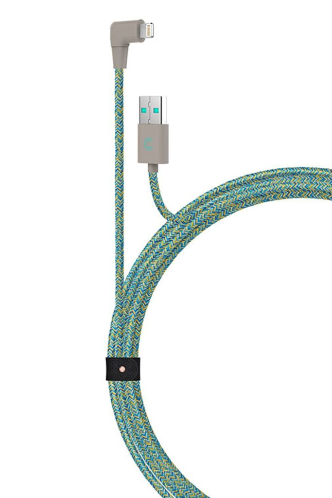 Turquoise 7ft. Marbled Woven Braided Lightning Cable