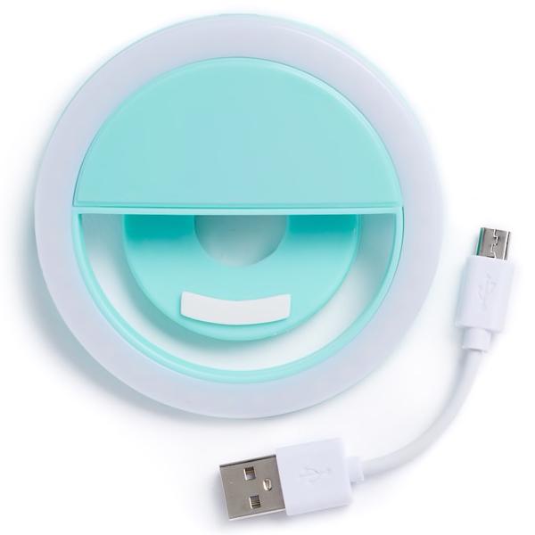 Turquoise Smartphone Selfie Light