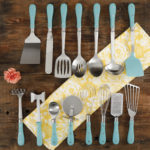 Turquoise 15-Piece Tool and Gadget Set