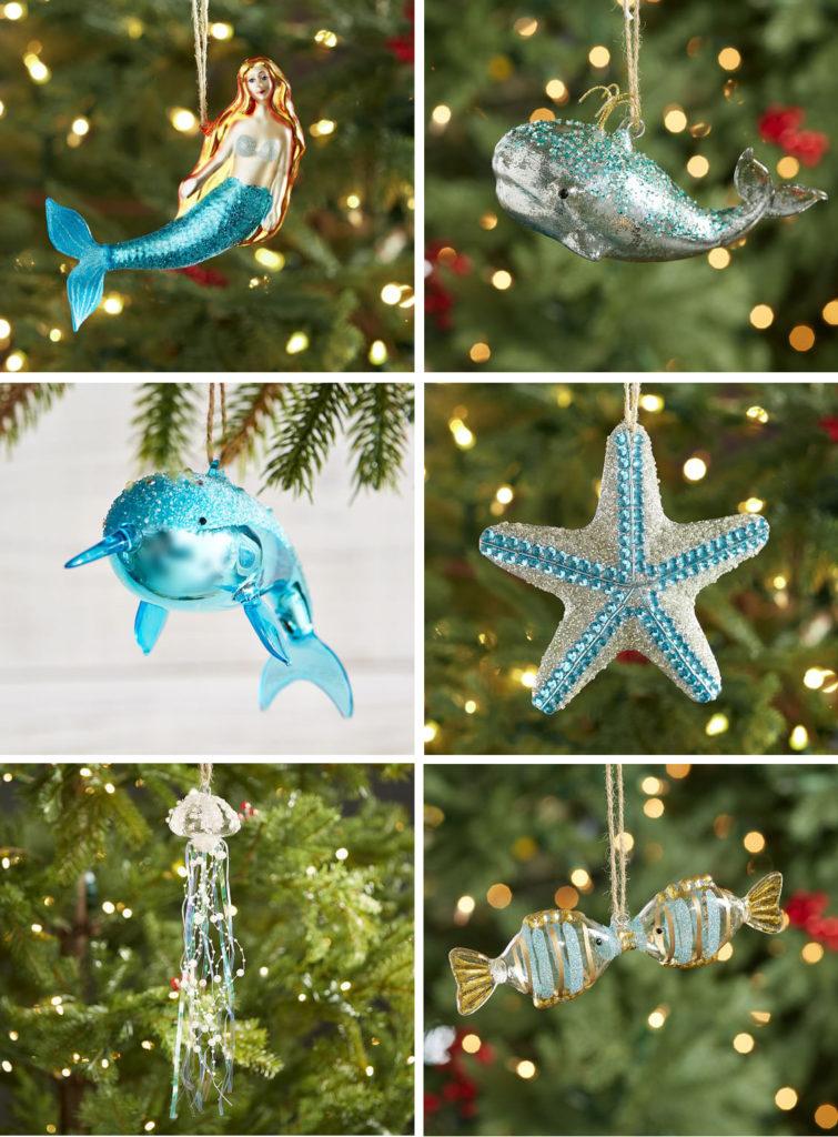 Turquoise Coastal Ornaments