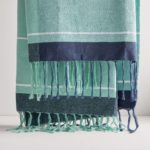 Blue Mixed Stripe Picnic Blanket
