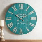 Smoke Blue Wash Wall Clock
